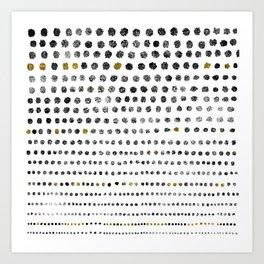 Black Dots II Art Print