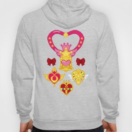 Pixel Moon Brooches Hoody