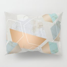 Honeycomb Concrete Pillow Sham