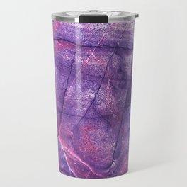 Smokey Ultra Violet and Pink Marble Travel Mug