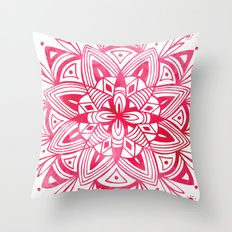 Mandala - Pink Watercolor Throw Pillow