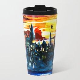 Hogwarts Castle At Sunset Travel Mug