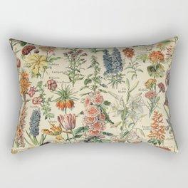 French Vintage Flowers Chart Adolphe Millot Fleurs Larousse Pour Tous Poster  Rectangular Pillow