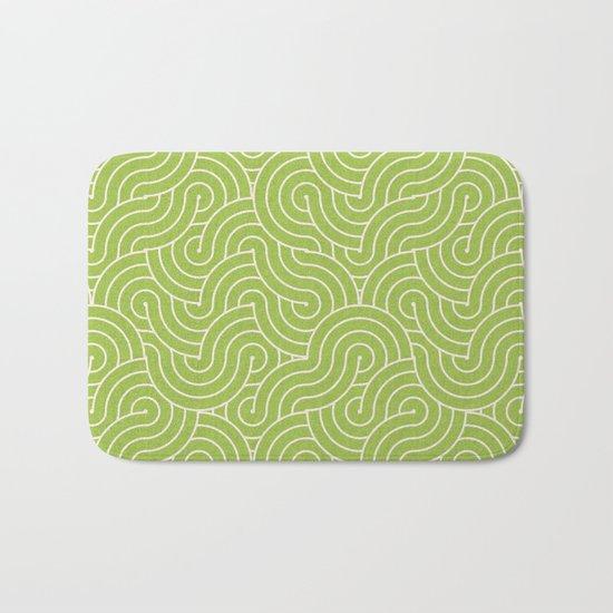 SWIRL / green tea Bath Mat