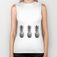 pineapples Biker Tanks featuring Cool Pineapples  by Yilan