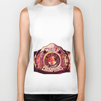 nba Biker Tanks featuring NBA CHAMPIONSHIP BELT by mergedvisible