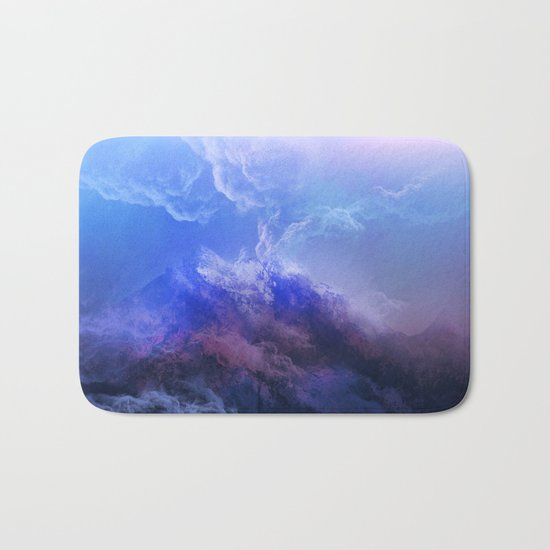 purple mountains Bath Mat