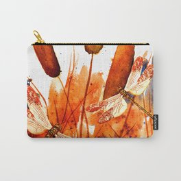 Dragonflies and Cattails Carry-All Pouch