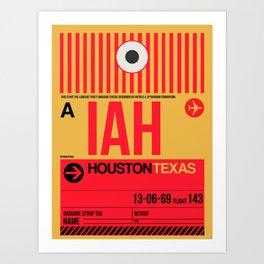 IAH Houston Luggage Tag 1 Art Print