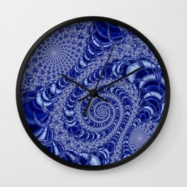 Jeweler's Dream (Blue with White Lace) Wall Clock