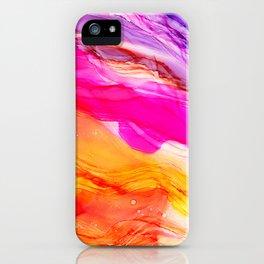 Pocket of Sunshine - fluid art, red orange yellow purple, vibrant fun, playroom iPhone Case