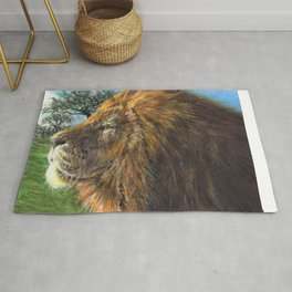 In My Element - Male African Lion Rug