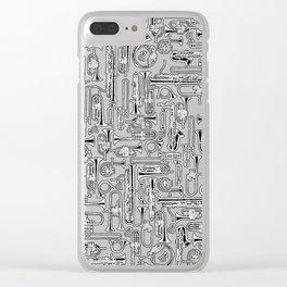 Horns B&W II Clear iPhone Case