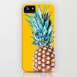 Pineapple Ananas On A Yellow Mellow Background #decor #society6 #buyart iPhone Case
