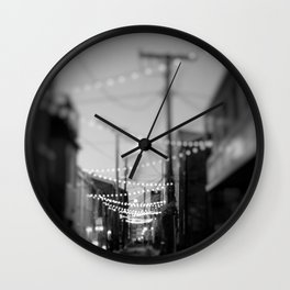 Party Lights in the City Wall Clock