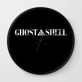 Ghost In The Shell Title (White) Wall Clock