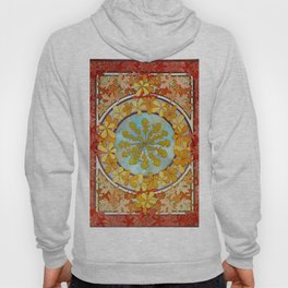 "Alphonse Mucha ""Pattern with leaves"" Hoody"
