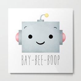 Baby Robot Metal Print