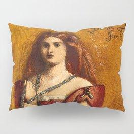 "Dante Gabriel Rossetti ""Dressed in Red"" Pillow Sham"