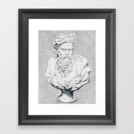 Zeus Bust Sculpture Framed Art Print