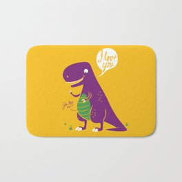The Friendly T-Rex Bath Mat