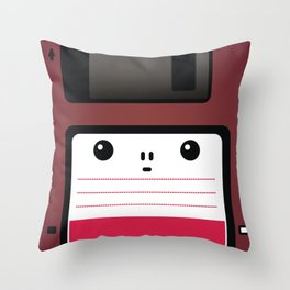 Diskette Throw Pillow