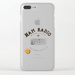 Hot Ham Radio Clear iPhone Case