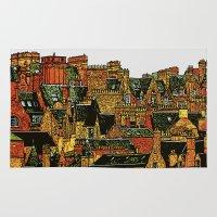 edinburgh Area & Throw Rugs featuring Edinburgh by dacarrie
