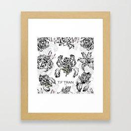 T.F TRAN CLASSIC FLORALS WHITE EDITION Framed Art Print