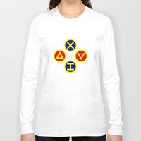playstation Long Sleeve T-shirts featuring Playstation Footballer by Dale Roots