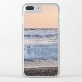 Looking at the sea.... Magnetic waves Clear iPhone Case
