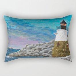 Newport Harbor Lighthouse Rectangular Pillow