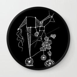 ZooForma / Black Background Wall Clock