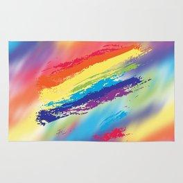 Rainbow strokes Rug