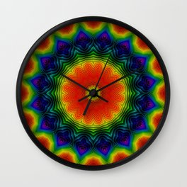 Cosmic Rose Wall Clock