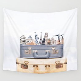Travel Luggage Wall Tapestry