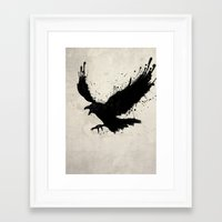 raven Framed Art Prints featuring Raven by Nicklas Gustafsson