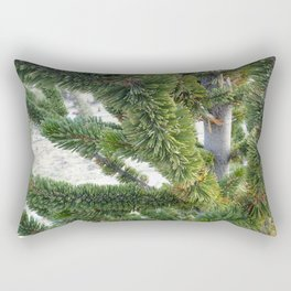 Bristlecone pine needles Rectangular Pillow