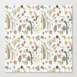 Collectors Garden Sketchbook Canvas Print
