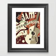 Guitar Music abstract Framed Art Print