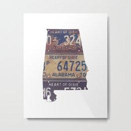 Vintage Alabama Metal Print