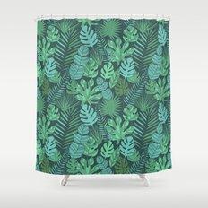 Tropical plantation Shower Curtain