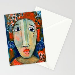 Mixed Media - When I think of angels I think of you.. Stationery Cards