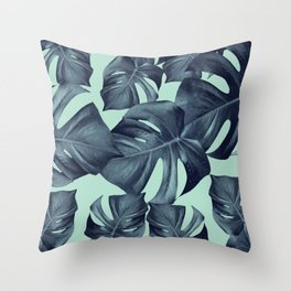 Monstera Leaves Pattern #10 #tropical #decor #art #society6 Throw Pillow