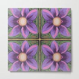 Flower Cross Metal Print