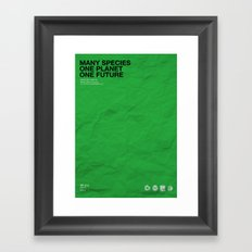 All you need is nature Framed Art Print