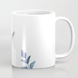 Hummingbird with tropical leaves watercolor design Coffee Mug