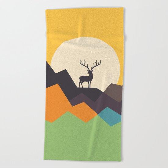 Deer Beach Towel