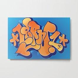 Lern 1 Bubblegum Graffiti NYC Metal Print