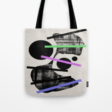 PENSIVE - Eclectic blend of geometric shapes, pastel colours, and black and white textures Tote Bag